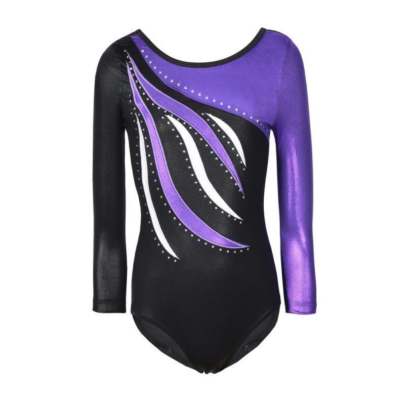 Girls Ballet Dress Kids Dance Wear Toddler Long Sleeves Athletic Dance Leotards Gymnastics Leotards Acrobatics Dress