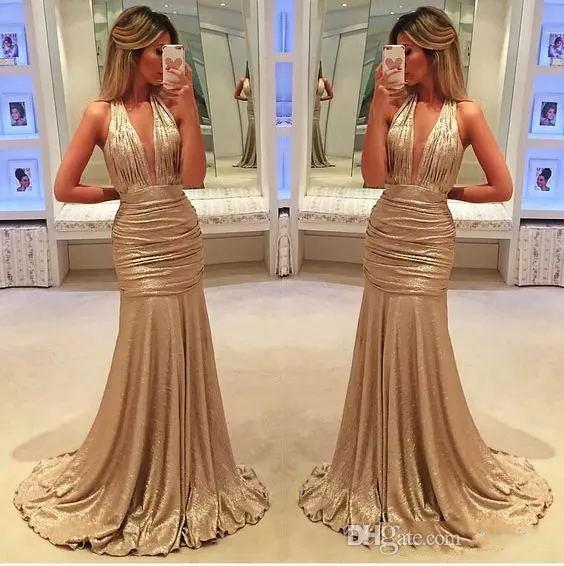 2018 Sexy Elegant Long Evening Gowns Satin Fabric Black Girl Western  Country Style For Woman Dress Gold Prom Formal Dresses Mermaid Full Length  Evening ... cb98aa2db
