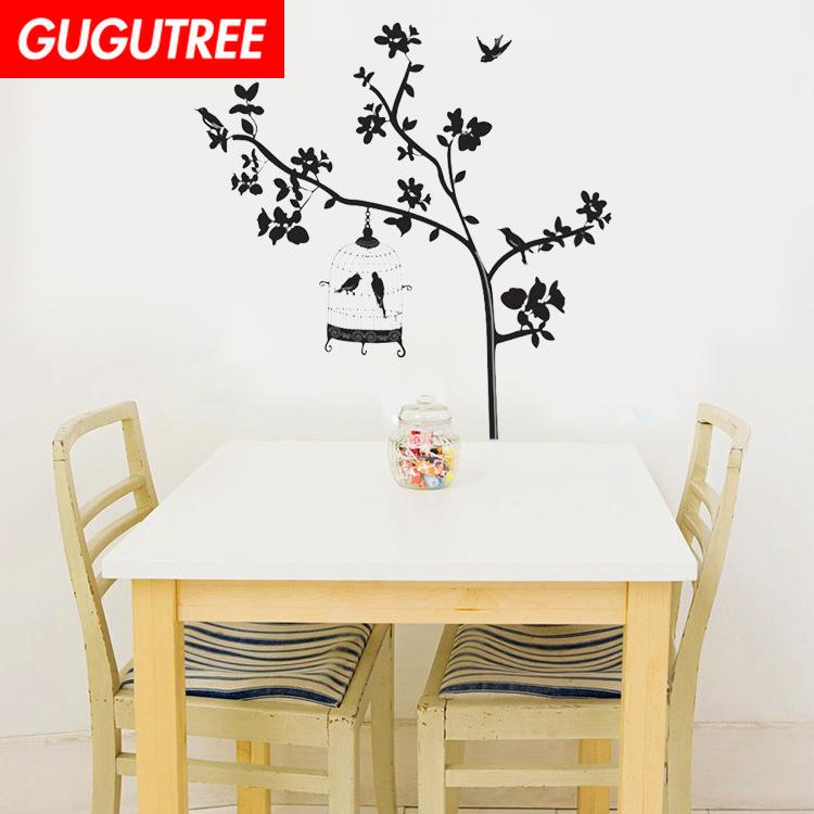 Decorate Home trees cartoon art wall sticker decoration Decals mural painting Removable Decor Wallpaper G-1899