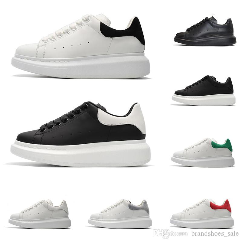 New designer shoes for men women fashion platform sneakers triple black white red grey leather suede mens comfortable flat casual shoe