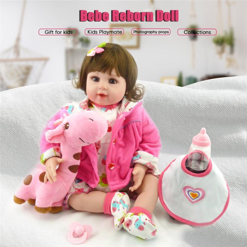 081c552f314 NPK 20 Silicone Baby Dolls With Plush Giraffe Toy Realista Reborn Doll  Christmas Birthday Gift For Girls Bebe Reborn Doll Novelties Meaning Visual  Novel ...
