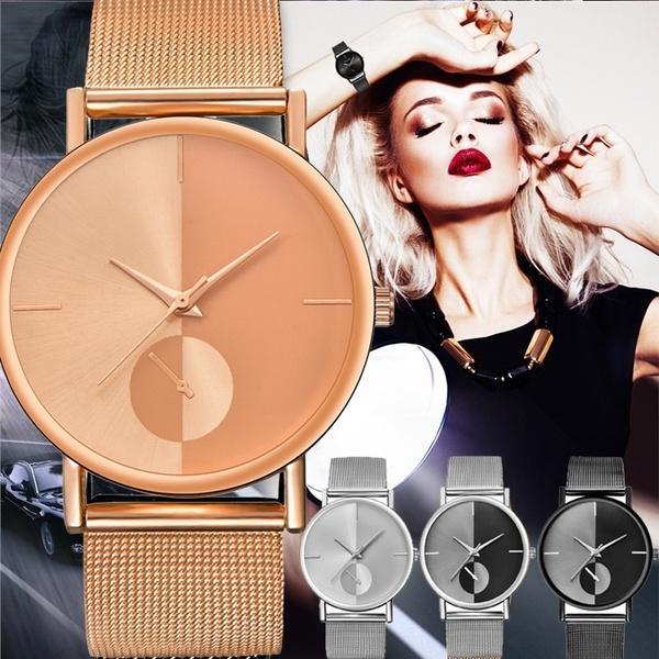 Compre Mujeres De Lujo De Los Hombres De Acero Inoxidable Reloj Analógico  Casual Pulsera De Cuarzo Reloj De Pulsera Relojes De Pareja Cuatro Colores  Oro ... b913a7148847