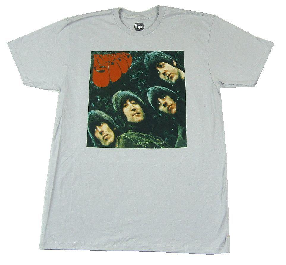 67c7541610d1 Beatles Rubber Soul Silver Grey T Shirt New Official Album ArtFunny Unisex  Casual Tshirt Cool Tee Shirts Cool Tees From Sillyboytshirts, $12.96   DHgate.Com