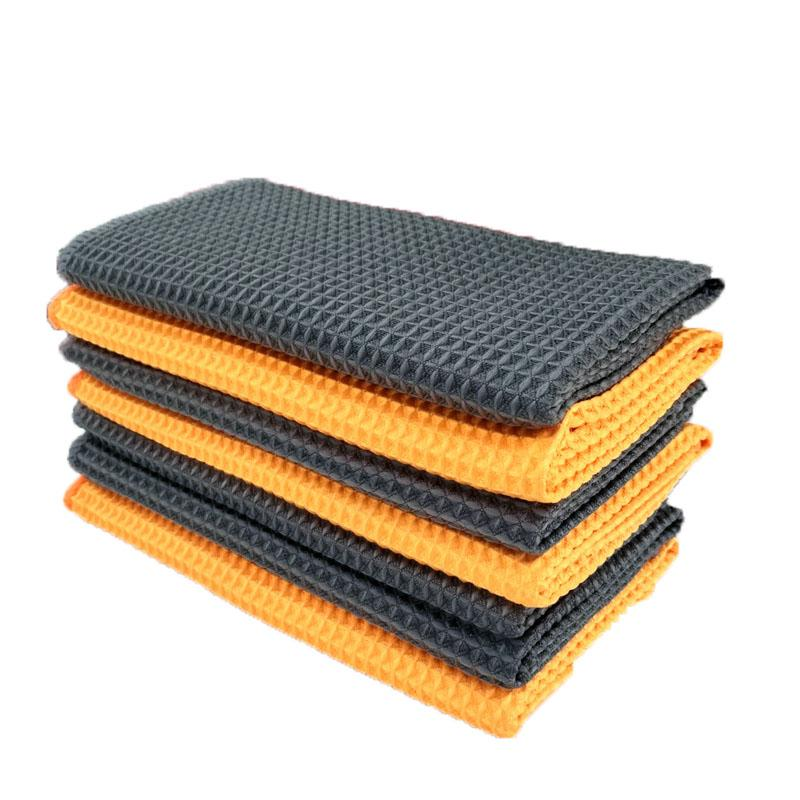 Soft Car Window Care Microfiber Wax Polishing Detailing Towel Car Cleaning Wash Traceless Cloth Kitchen Cleaner 40x40cm