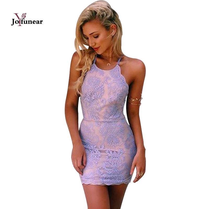 7f5245bc03 Compre Vestido De Festa De Las Mujeres De Malla De Bordado Bordado Halter  Sexy Vestido De Encaje Vestido Vestido Branco Tallas Grandes Vestidos A   26.3 Del ...