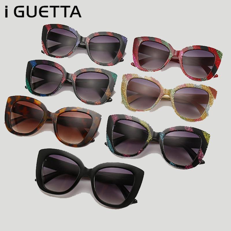 a8da16a16e61f Compre IGUETTA Marca Designer De Olho De Gato Óculos De Sol Das Mulheres  2019 De Alta Qualidade Shades Para As Mulheres De Grandes Dimensões Driver  De ...
