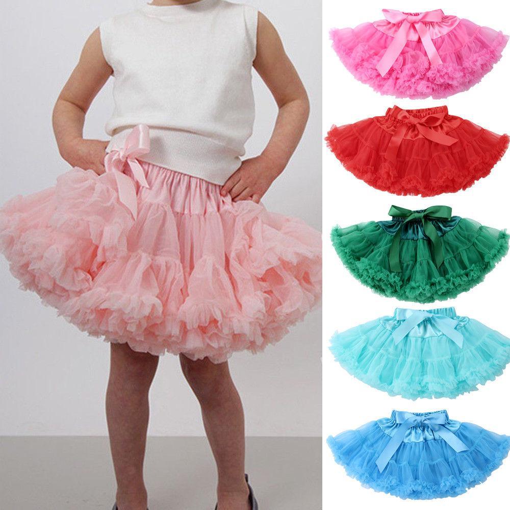 a88ff68abb 2019 Cute Baby Girls Tutu Skirt Kids Dance Pettiskirt Party Dress Ballet  Fluffy Layer Tull From Dejavui, $34.03 | DHgate.Com