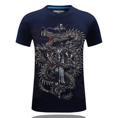 Hot New 2019 Fashion Brand T Shirts For Men Novelty Dragon Printing
