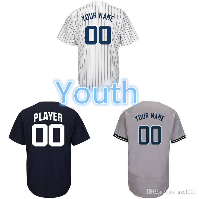 0f5574412e7 2019 Youth Custom New York Yankees Aaron Judge Giancarlo Stanton Luis  Severino Brett Gardner Didi Gregorius Gleyber Torres Kids Baseball Jersey  From Azal001 ...