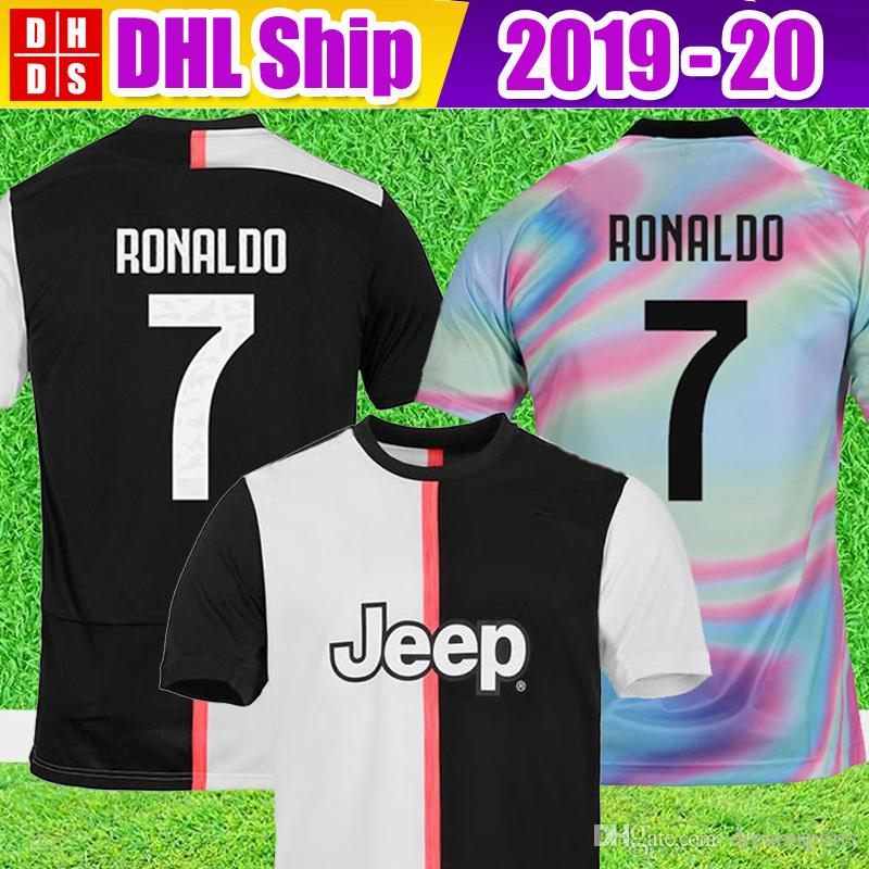 new concept feb79 293cd DHL Free Shipping 2019 Juventus RONALDO 7# Soccer Jerseys Kit 2020 JUVE  DYBALA 18 19 20 EA Sports football shirts MEN KIDS sets
