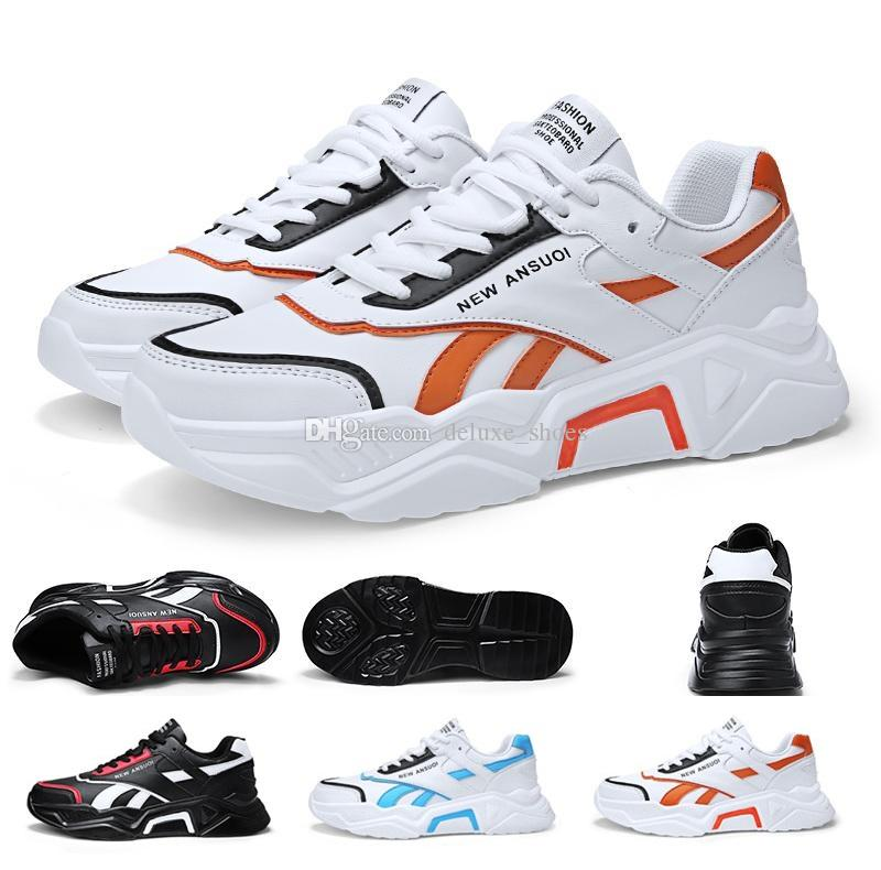 Limited Discount Mens Running Shoes Black White Orange Blue Platform Leather Designer Trainers Sneakers 39-44 Made in China K686