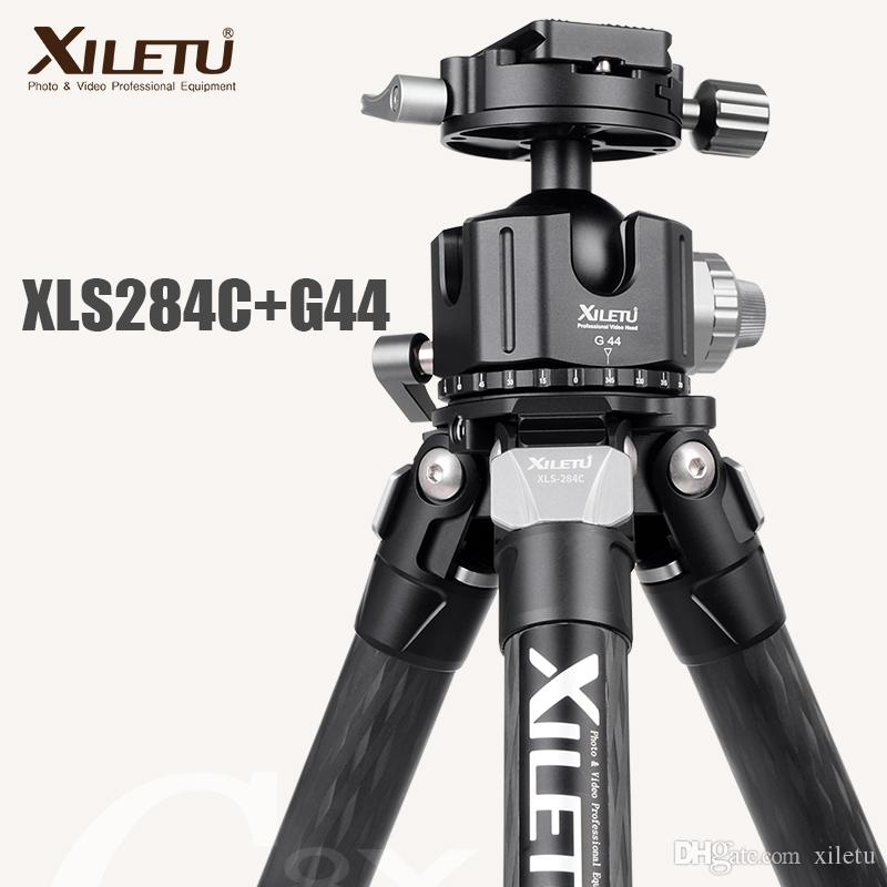 XILETU XLS-284C+G44 Professional Photography Carbon Fiber Tripod 360 Degree Panorama Ballhead For Dslrs Cameras