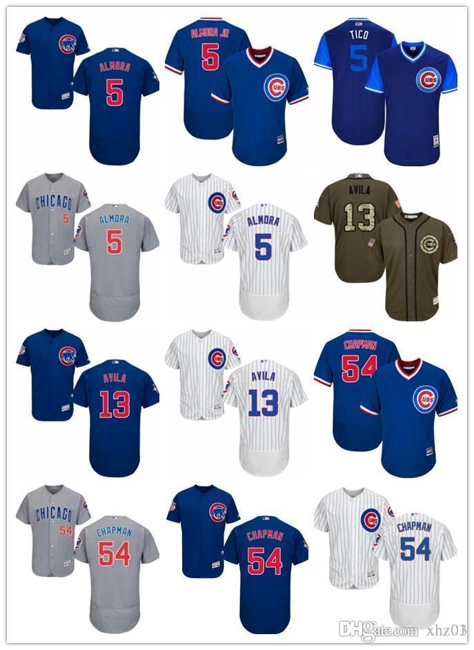 hot sale online f5fe4 55cff custom Cubs Men s Women s Youth Majestic Jersey 5 Albert Almora Jr 13 Alex  Avila 54 Aroldis Chapman Detroit Baseball Jerseys