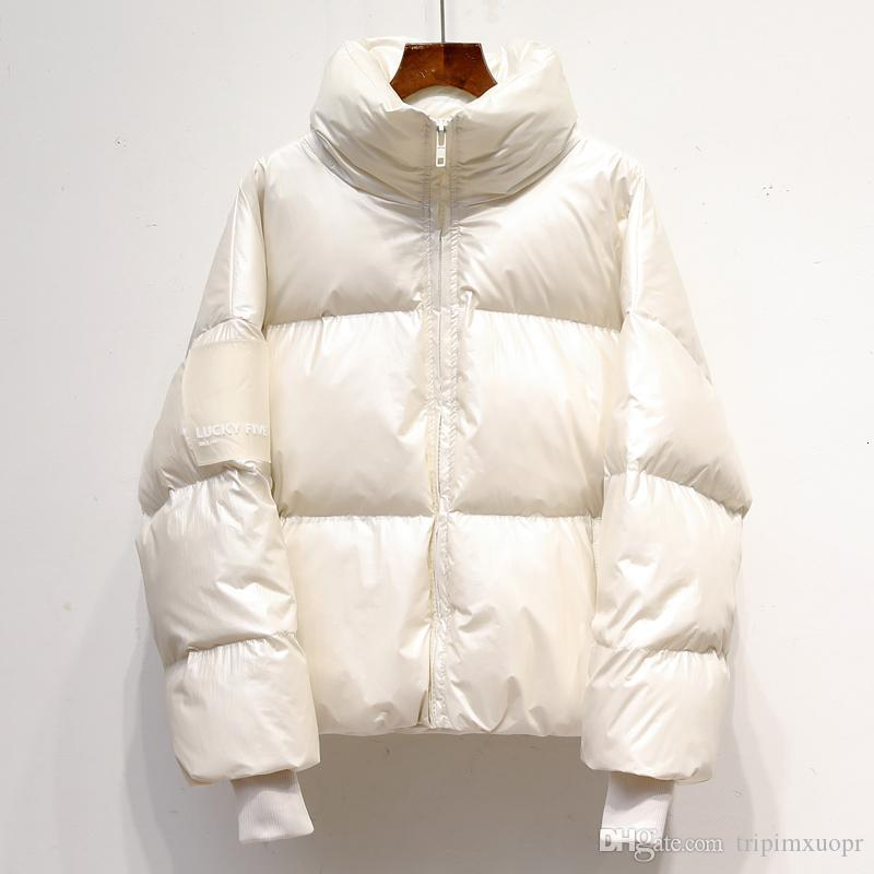 Loose Parka 2019 New Winter Down jacket Women Short Thick Bread Sweet Candy White Duck dDown Korean Puffer Jacket SH190930