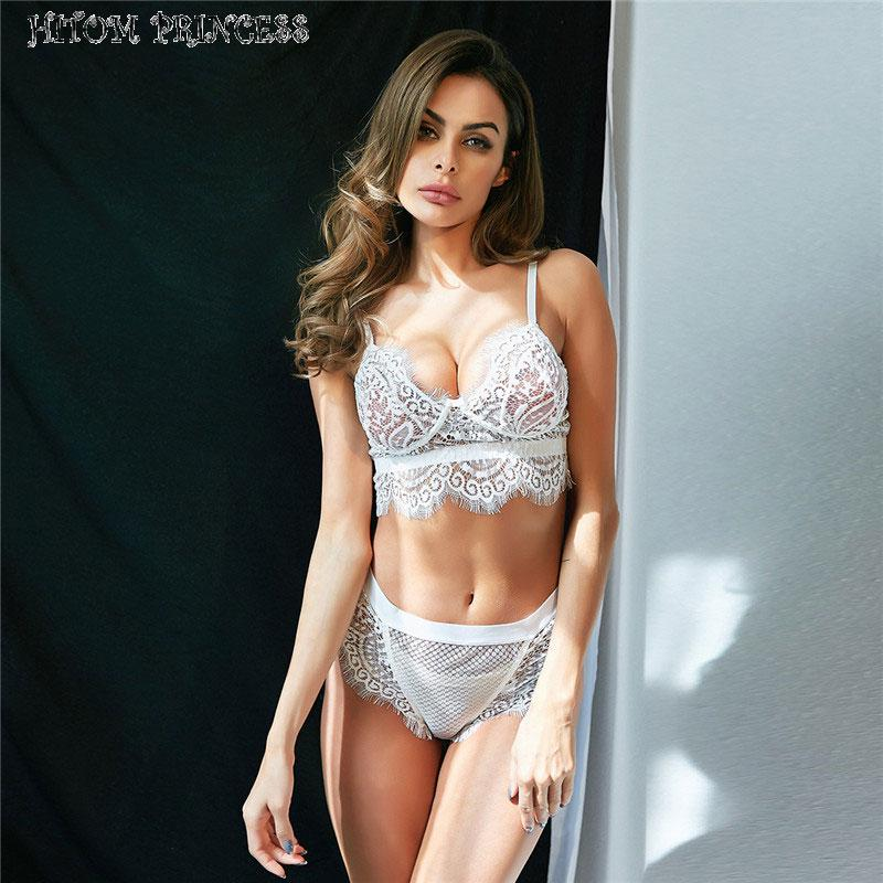 861ec88474 2019 HITOM PRINCESS Lace Bra Set Unlined Bralette Transparent Women  Underwear Set Sexy Intimate Lingerie Sets Female Bras Brief Sets From  Youerclothing