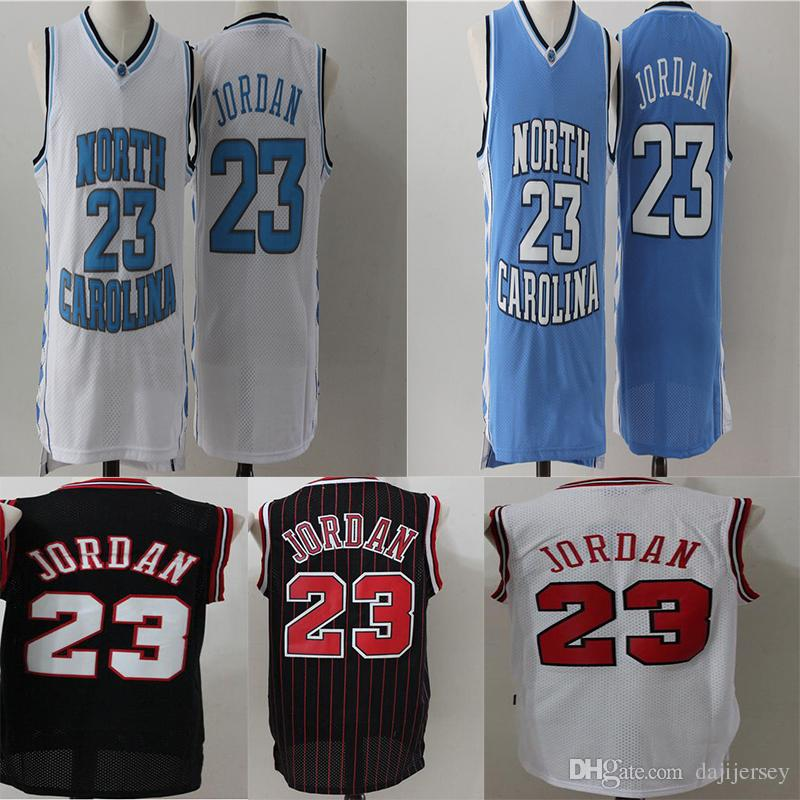 save off 03085 38863 #23 Michael MJ Jersey North NCAA Carolina College Michael Embroidery Logo  Stitched Basketball Jerseys