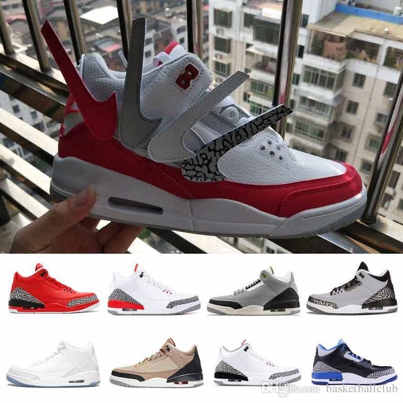 f4e59babf81fc7 2019 Men Basketball Shoes 3s 3 Sneakers Mens Tinker University Red ...