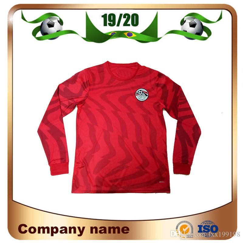 premium selection 3b171 64191 2019 Egypt Long sleeve Soccer Jersey 19/20 Home Red 10 M.salah Shirt  National Team Sports Customized Football Uniforms