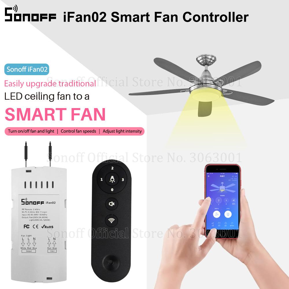 Intelligent Contrôle De Ifan02 Contrôleur Commutateur Ventilateur Convertir Fi Pour En Régler Le Sonoff Variateur Wi 08ywOmNnv