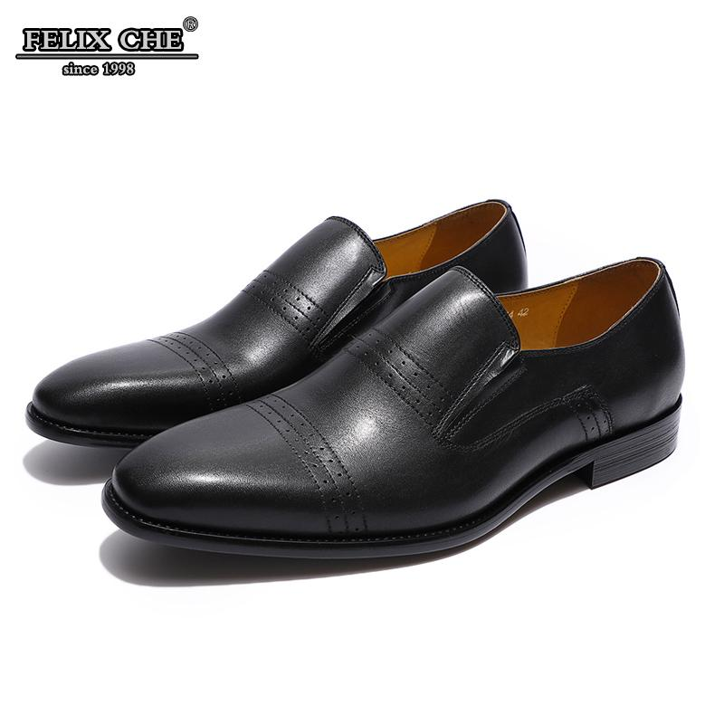 37f5558bebd6 Heels Mens Loafers Genuine Leather Casual Shoe Italian Style Brown Black  Slip On Dress Shoes Business Office Men Shoes FELIX CHU Red Shoes Footwear  From ...