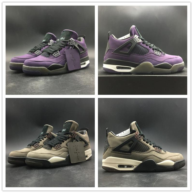New Arrival Basketball Shoes Hight Cut 4s Limited Edition Purple Brown Quality Fashion Mens Sports Trainers Sneaker
