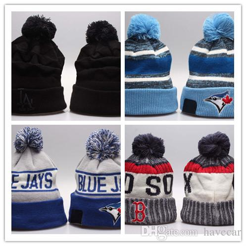 831b706a42ef5 2018 2019 Wholesale Hot Winter Fashion Men Beanie Women Knitted Hat Casual  Sport Team Cap Keep Warm Ski Gorro Top Quality Blue Jays Skull Caps From  Havecar