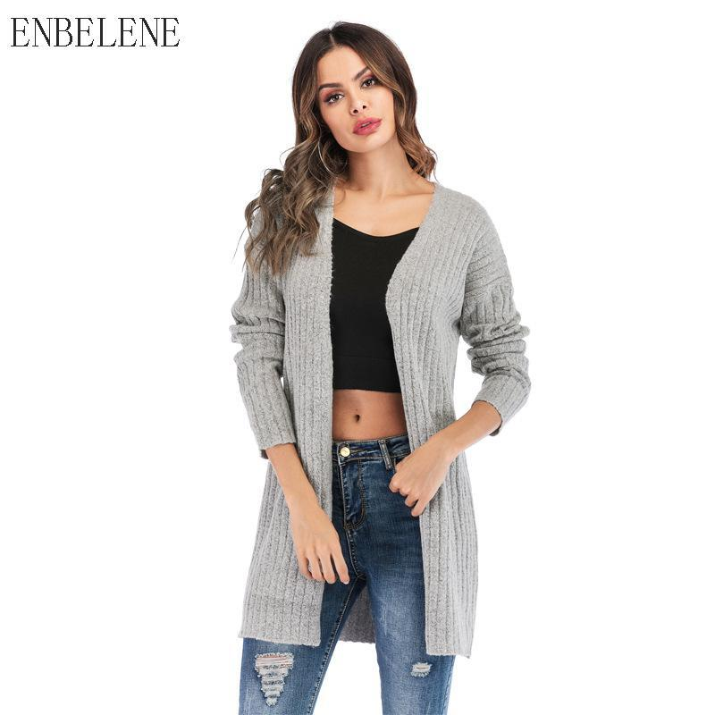 b2cc4a614 2019 Winter Sweater Coat Office Lady Long Cardigans For Female V ...