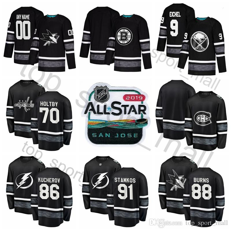 new product 1577b d48b0 2019 NHL All Star Hockey Jersey Nikita Kucherov Steven Stamkos Patrick Kane  9 Jack Eichel Braden Holtby 65 Erik Karlsson Carey Price Black