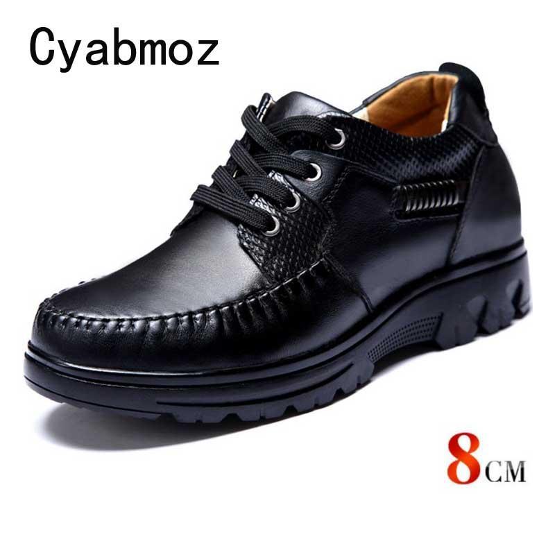 dbec54c95e Compre Zapatos Cómodos Con Elevador Que Aumentan De Altura En Piel De  Becerro Hombres Taller 8 CM Al Instante Con Plantilla Para Aumentar La  Altura Zapato ...