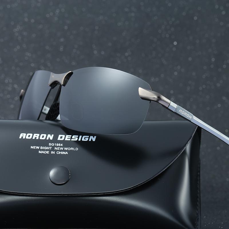 b856fa9e7f Fashion Men Polarized Sunglasses Aluminum Magnesium Sun Glasses ...