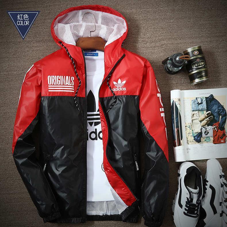 Chaquetas finas para hombres Diseñador de la marca Chaqueta de correr Envío gratuito Cazadora fina Venta caliente Deportes abrigos con capucha Hombre