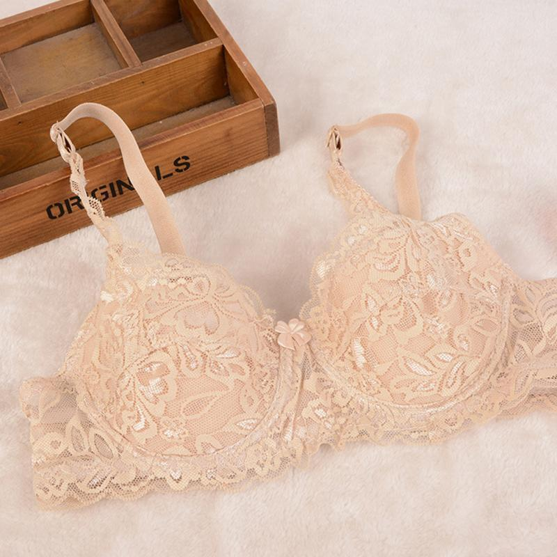 Lady Fashion Women Ultra-thin Sexy Breathable Lace Comfortable Adjustable Push Up Bra For Women B Cup 70B/ 75B/ 80B/ 85B/ 90B
