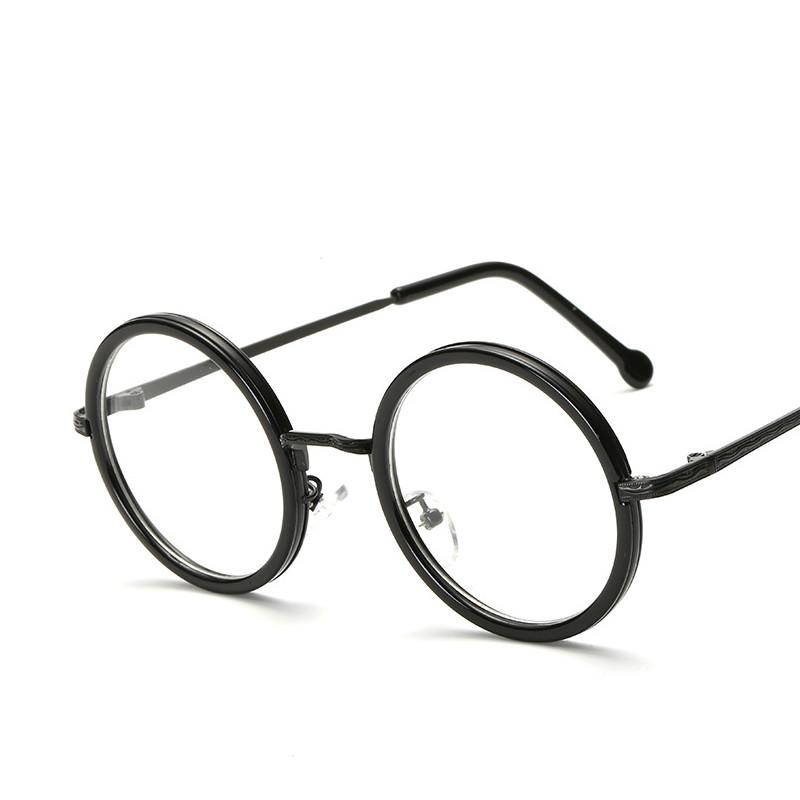 5bae6a247a9 2019 Women Round Reading Glasses Metal Frame Glasses Plain Mirror Male  Female Reading Glass From Ancient88
