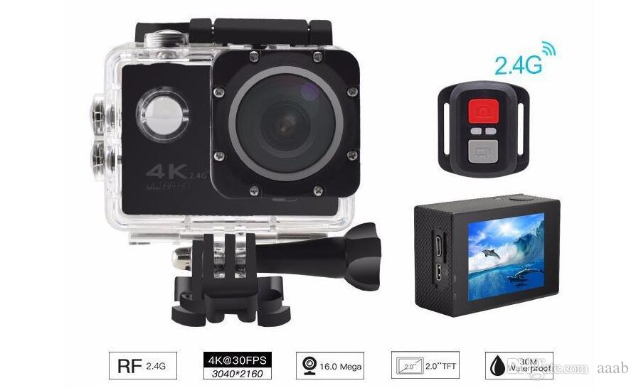 Cheapest 4K Action Camera F60R WIFI 2.4G Remote Control Waterproof Video Sport Camera 16MP/12MP 1080p 60FPS Diving Camcorder 6 colors
