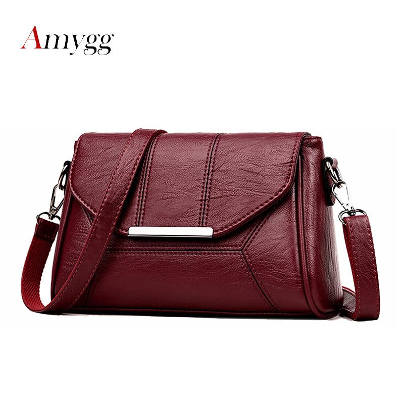 2018 New Soft Crossbody Bags For Women Pu Leather Handbags Designer Women  Shoulder Bags High Quality Solid Women Messenger Bags Womens Bags Wholesale  Bags ... 3fb89dca88afb