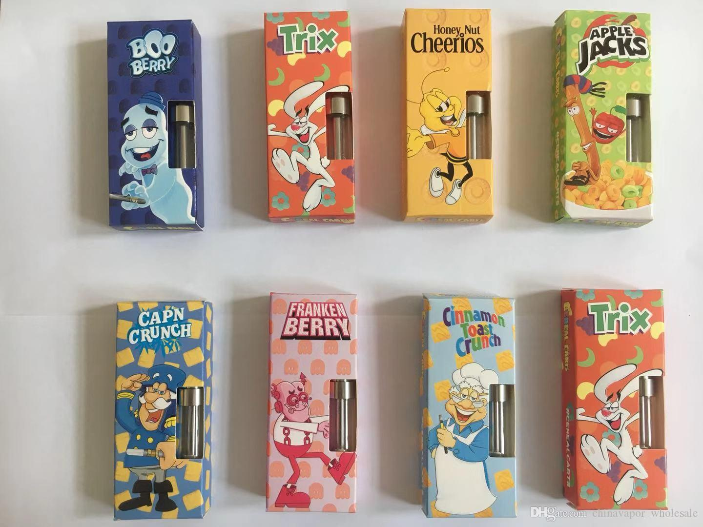 2019 Newest Cereal carts Dank Vapes Packaging 35 Flavors Carts Packaging  Bag Box For 1 Full Gram Dank G5 Cartridge DHL free