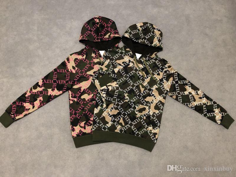 19ss France Italy mens designer jumper New Hot VL camouflage Print Cotton men women Mens Hoodies Luxury Sweatshirts