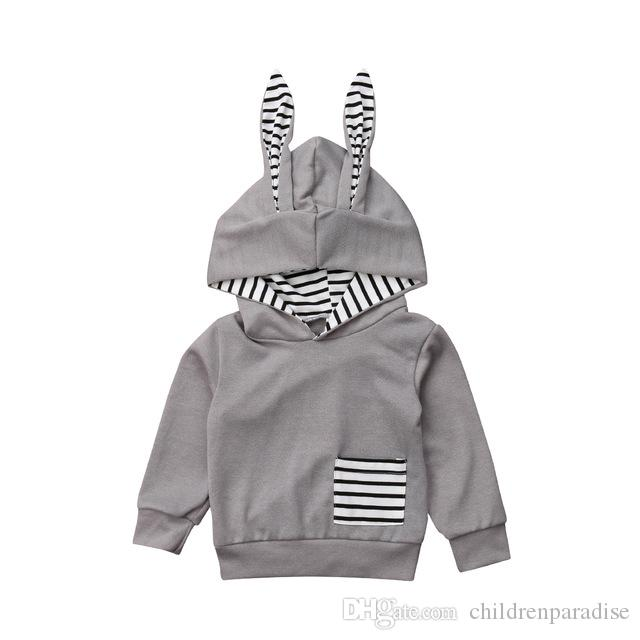 Infant Kids Clothing Baby Boys Girl Hooded Coats Toddler 3d Rabbit Ear Hoodies Cute Lovely Outfit Clothes Brand Sweatshirt