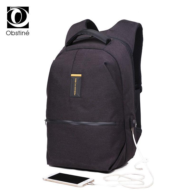 5d3f95e93 Compre Moda Negro Mochila Para Laptop 15.6 Pulgadas Para Hombres Mochilas  De Lujo Cargador Usb Mochila Hombre Joven Mochila Para Viaje Backbag A  $56.86 Del ...