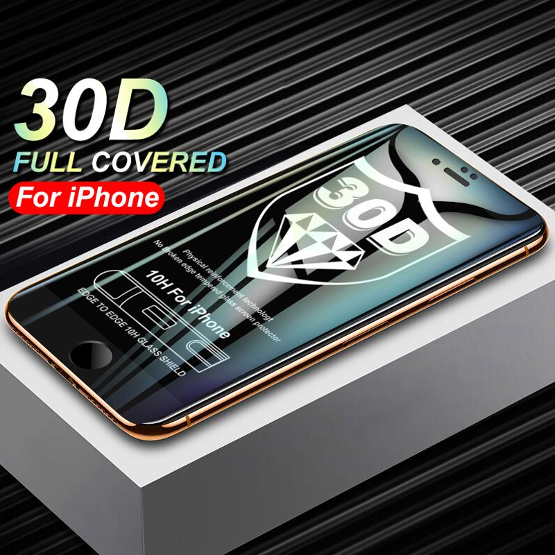 factory authentic f57c7 e0331 30D Curved Edge Protective Glass On The For iPhone 7 8 Plus Tempered Screen  Protector For iphone X Glass Film Retail packaging