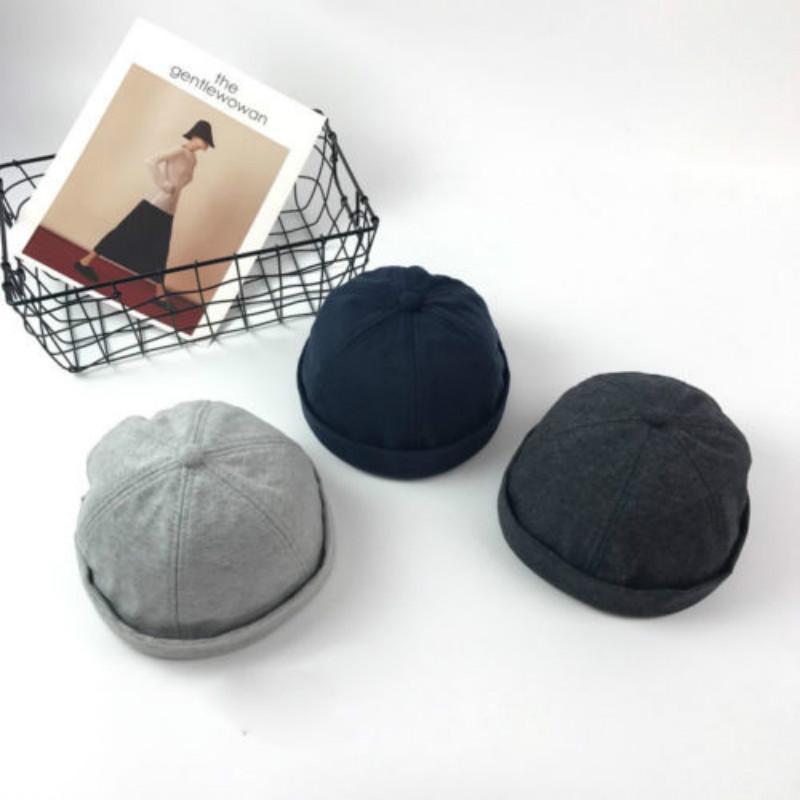 9df033e6bf1 2019 2019 Newest Hot Men Casual Beanies Adjust Docker Hat Sailor Cap  Mechanic Biker Hat SkullCap Beanie Gray Navy Blue From Jumeiluo