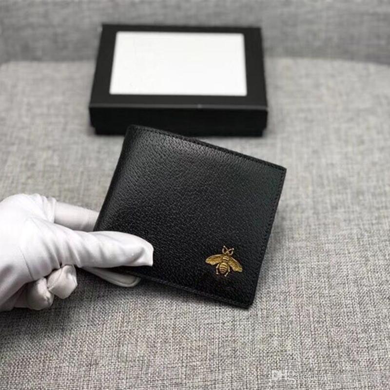 625eb13c Classic Black Credit Card Holder Bifold Wallet Luxury Business Men ID Cards  Case Purse 2019 New Fashion Card Holders Money Cash Pocket Bag