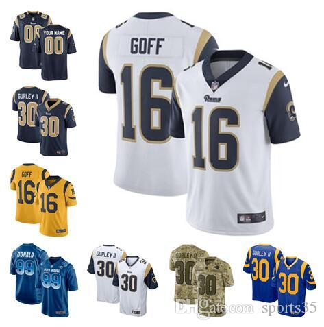 Rams Super Bowl LIII Bound Jersey Todd Gurley Jared Goff Aaron Donald Los  Angeles Custom American Football Jerseys Navy White Royal Fashion UK 2019  From ... 8e5d60d31