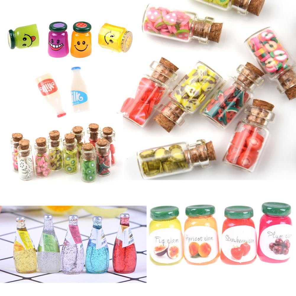 2pcs//lot Dollhouse Miniatures Jam Pretend Food Toy for Kitchen AccessorieVGCA