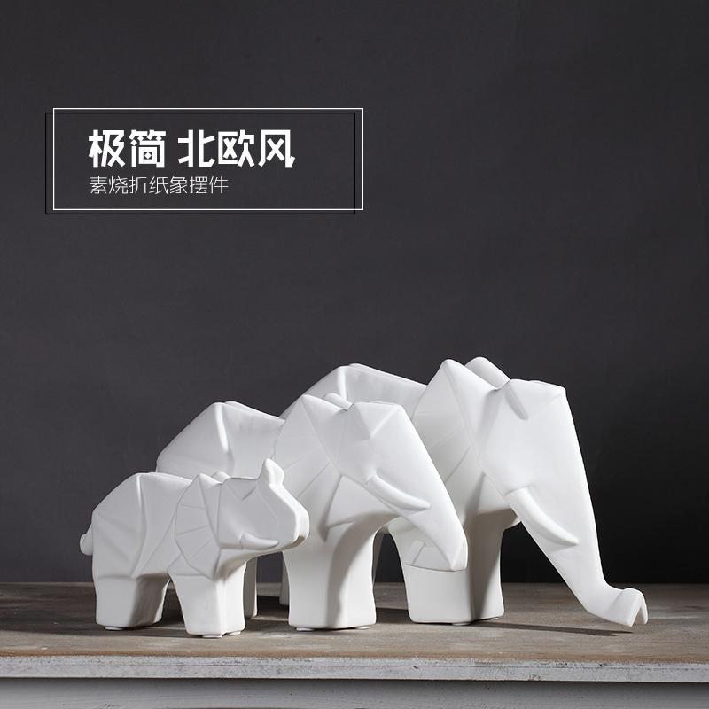 Cute Ceramic Elephant Statue Home Decor Crafts Room Decoration Vintage  Ornament Porcelain Animal Figurines Wedding Decorations