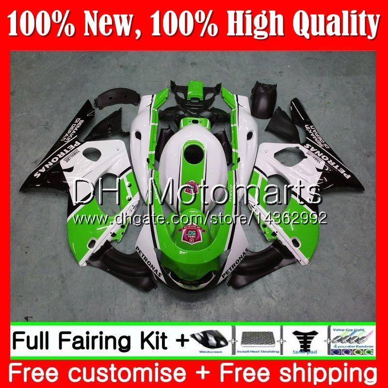 Body For YAMAHA Thundercat YZF600R 02 03 04 05 06 07 86MT35 Green white YZF 600R YZF-600R 2002 2003 2004 2005 2006 2007 Fairing Bodywork