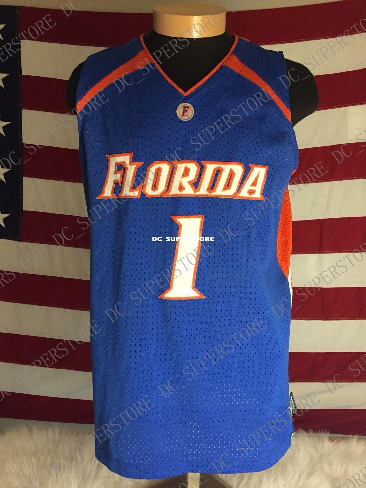 check out 4e3e5 a52e0 Cheap custom Florida Gators Blue Orange Basketball Jersey #1 Stitched  Customize any number name MEN WOMEN YOUTH XS-5XL