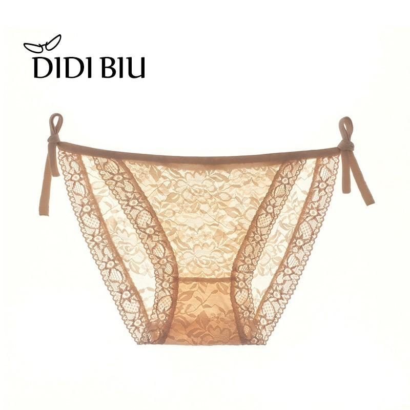 eb7e9581e 2019 DIDI Sexy Women S Underpants Perspective Underpants Lady Temptation  Lace Transparent Low Waisted Briefs With Thin Belt 881 From Didi biu