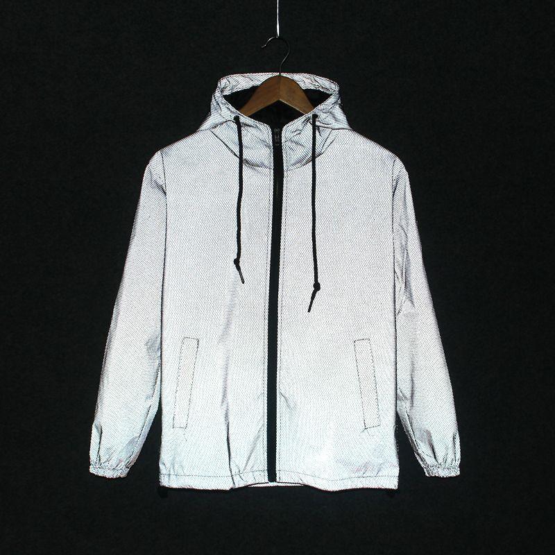 e8d1c61c0ea0 2019 новый смешной принт светоотражающие куртки мужчины / женщины марка с  капюшоном ...