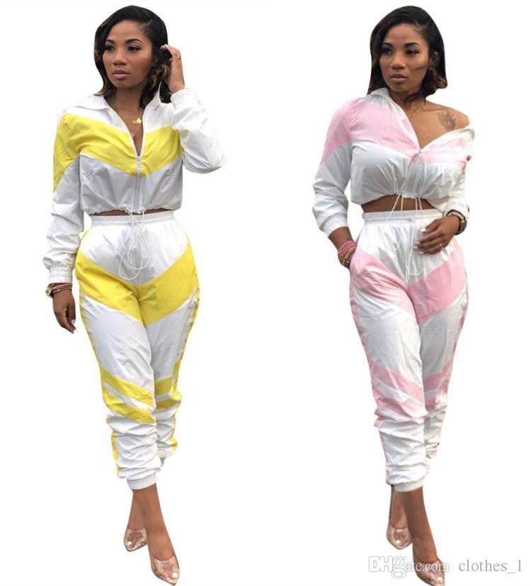 b63996998 Para mujer sudadera con capucha legging conjunto de 2 piezas trajes  chaqueta de chándal de manga larga pantalones ropa interior con paneles  medias ...